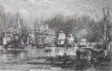 Newcastle 1836 - the River Tyne with its shipping.