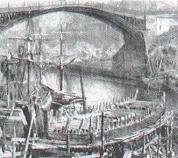 Shipbuilding along the River Wear in the 1880s.